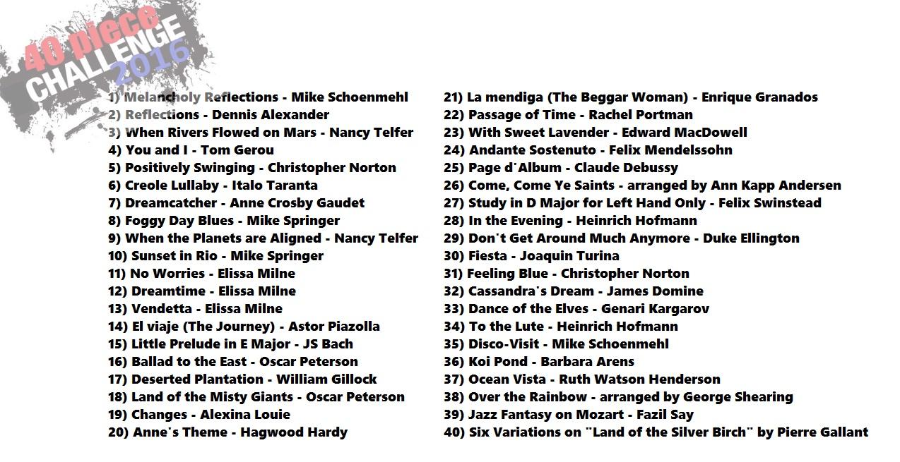 40 piece challenge 2016 the piano studio 40 piece challenge 2016 fandeluxe Gallery